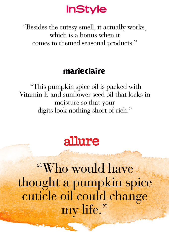 NCLA So Rich Pumpkin Spice Cuticle Oil - Featured on InStyle Marie Claire Allure