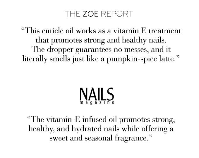 NCLA So Rich Pumpkin Spice Cuticle Oil - Featured on The Zoe Report Nails Magazine