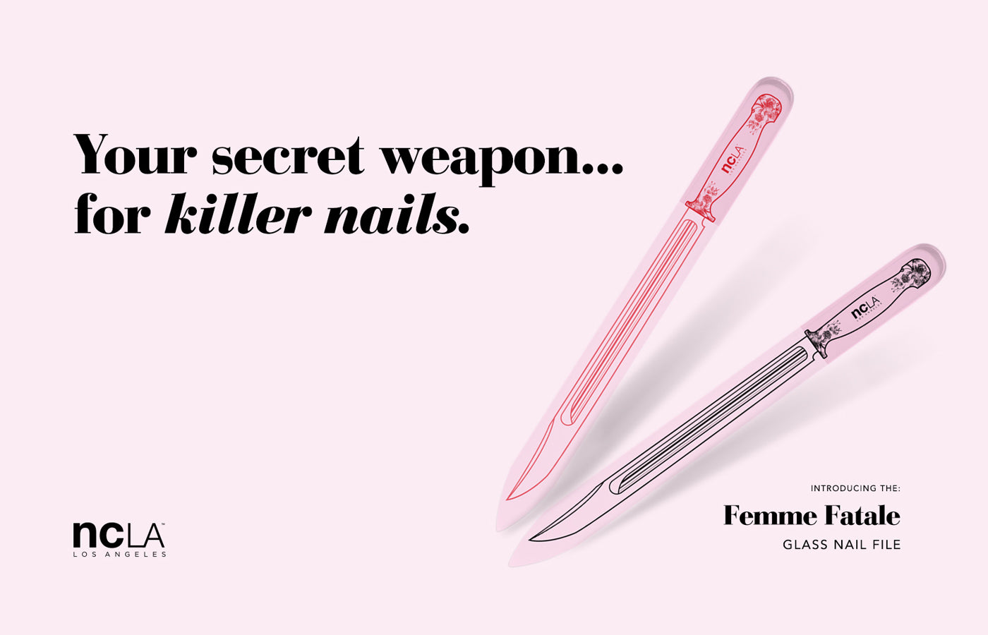 LAUNCHED: Femme Fatale Glass Nail File – shopncla