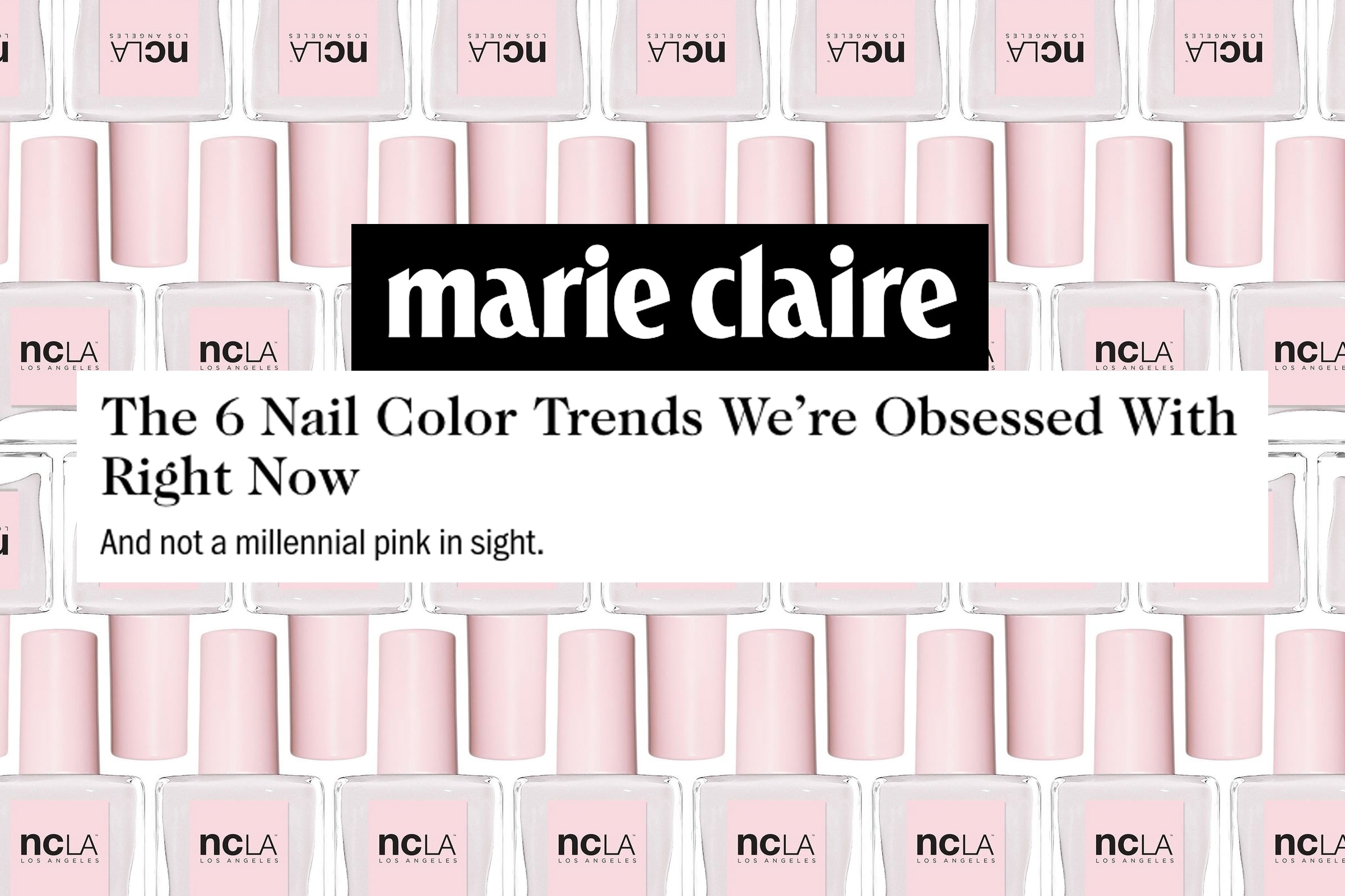 MARIE CLAIRE.COM: The 6 Nail Color Trends We\'re Obsessed With Right ...