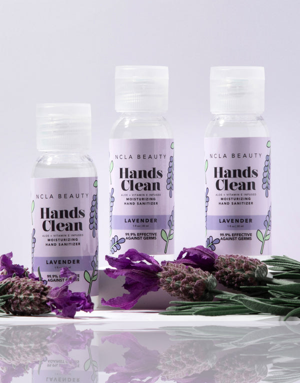 Hands Clean Moisturizing Hand Sanitizer - Lavender (3 pc set)