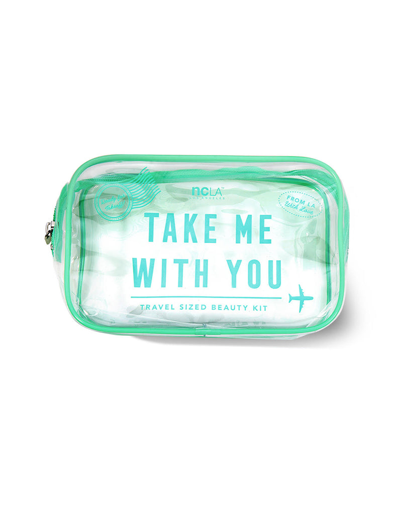 Take Me With You! Mint Cosmetic Bag