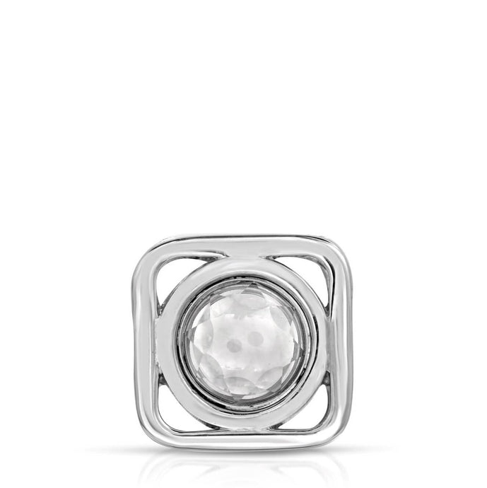 Icon Sterling Silver Modern Locket Front View