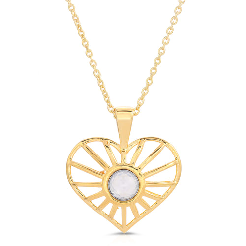 Heartstring Yellow Gold Pendant