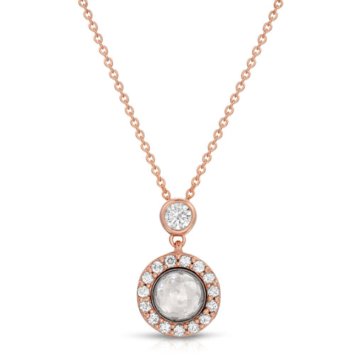 Halo Rose Gold Modern Locket