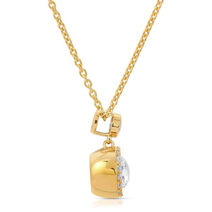 Halo 14K Yellow Gold Plated Modern Locket Side View