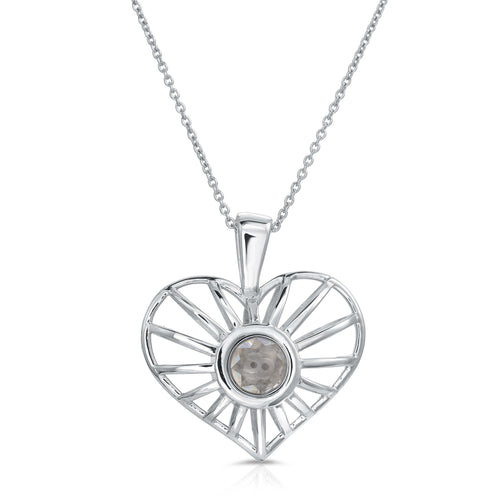 Heartstring Sterling Silver Modern Locket Front View