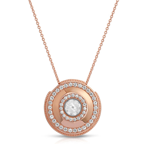 Medallion Rose Gold Modern Locket
