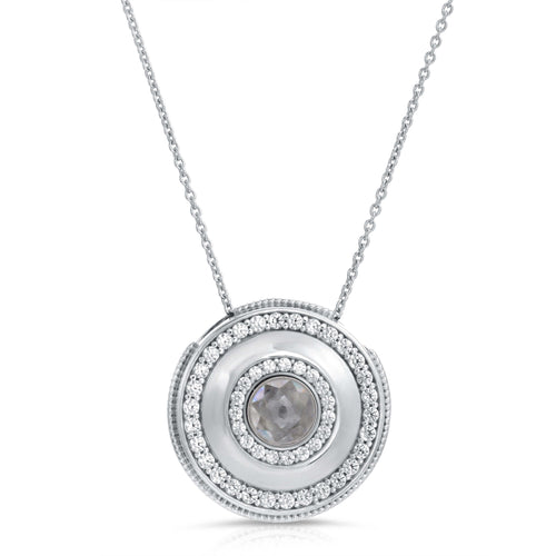 Medallion Silver Modern Locket