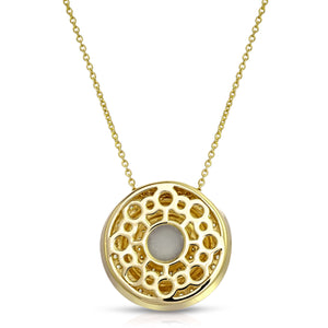 Medallion 14K Yellow Gold Plated Modern Locket Back View
