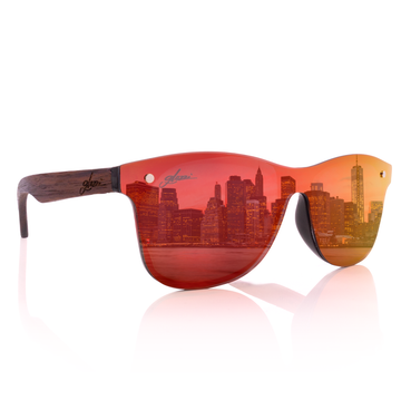 glozzi Miami – Walnut Red Miami Holz Sonnenbrille