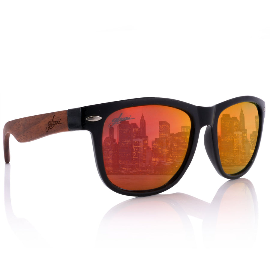 glozzi The Classic – Walnut Red Wayfarer Holz Sonnenbrille
