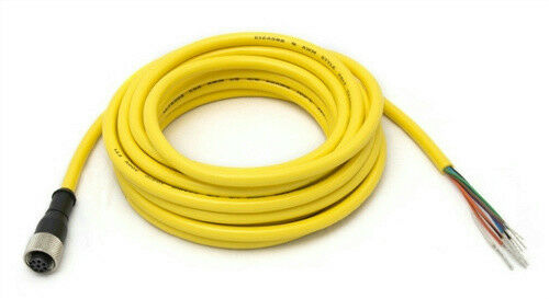 Banner 70884 QDE-825D Cordset Euro-Style 8 Pin Single End 25ft PVC Yellow Cable