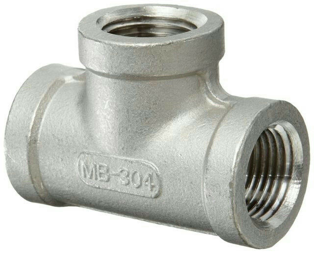 "Merit Brass 304 Stainless Steel 1"" Tee K406-16 150-1 T-304"