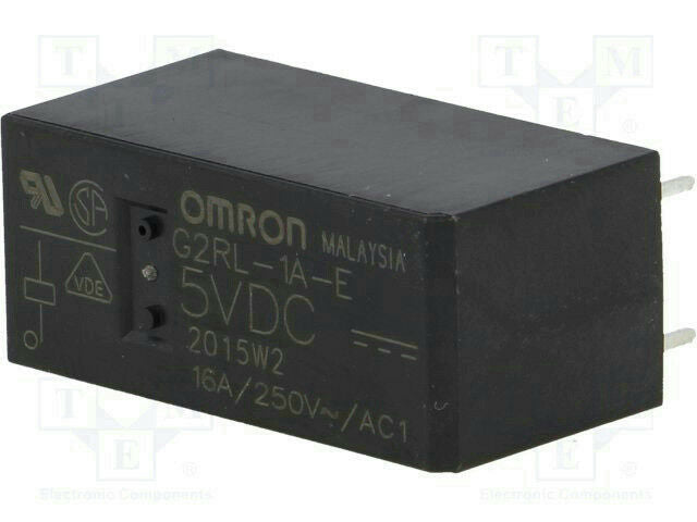 Omron G2RL-1A-E DC12 General Purpose Relay SPST-NO 12VDC 16A *Pack of 20*