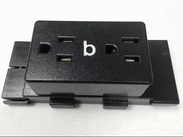 Herman Miller A1311.B Cubical Panel Duplex Receptacle AO Series Dark Tone