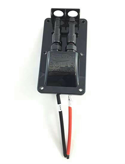 "Go Power! GP-CEP-1 Cable Entry Plate w/ Red & Black 10"" MC4 Cables for RV Marine"