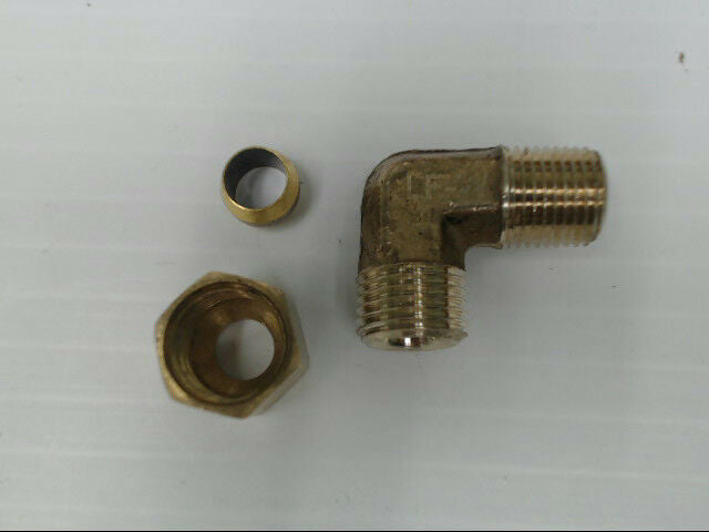 "Brass P-69-42-LF Tube to Male 90° Elbow Pipe 1/4"" x 1/8"" Adapter Fitting"