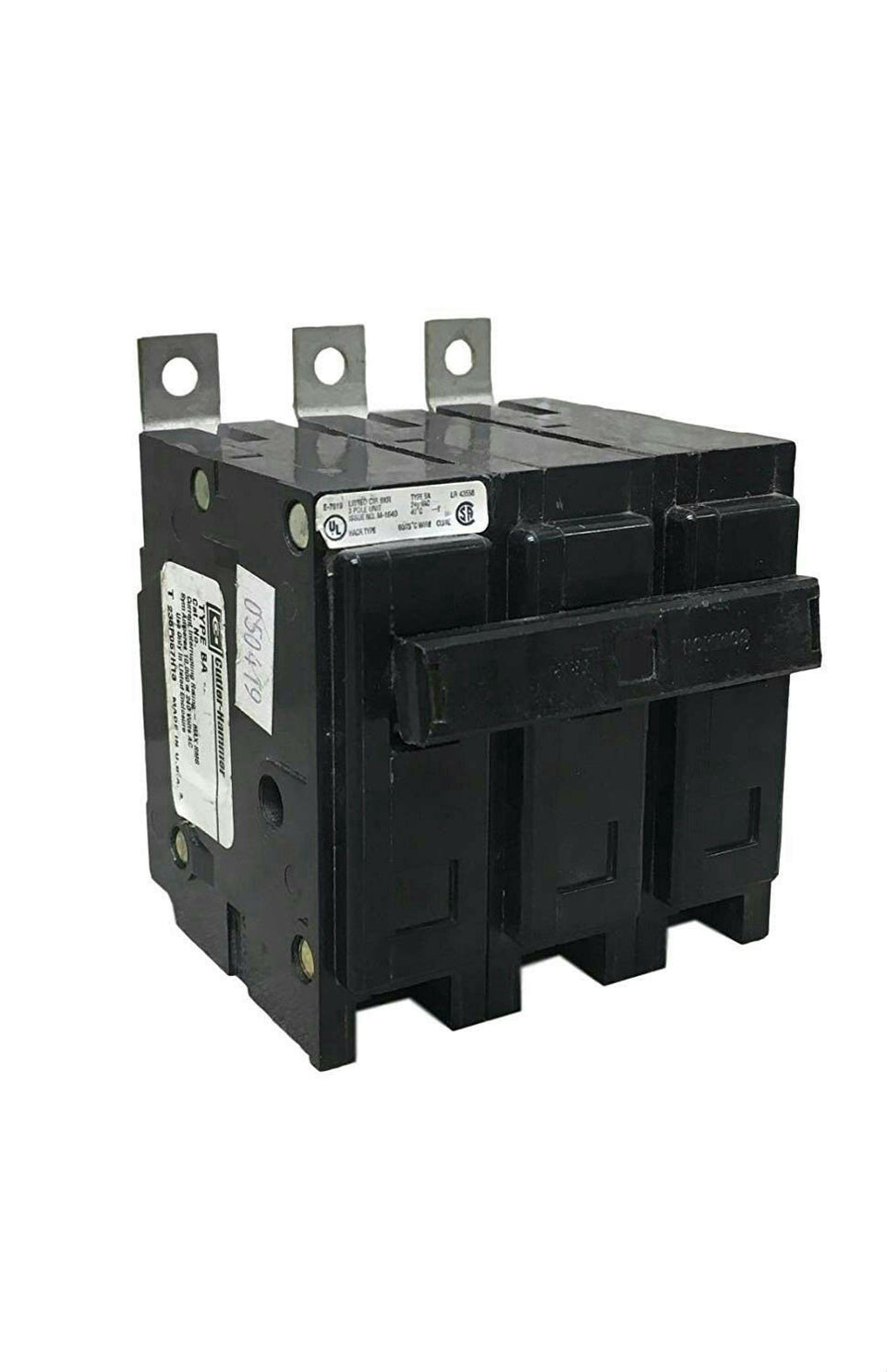 Eaton Cutler-Hammer BAB3025H Bolt-On Circuit Breaker 3 Pole 25A 240V BAB 10 kAIC