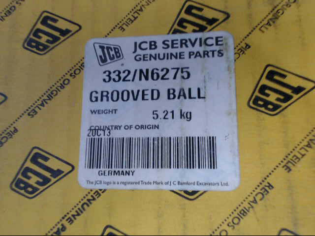 Genuine JCB 332/N6275 Grooved Ball Bearing *Brand New & Free Shipping*