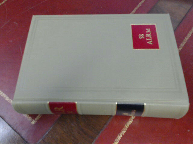 American Law Reports ALR 3d Series Law Book Volume 58 Cases & Annotations 1974