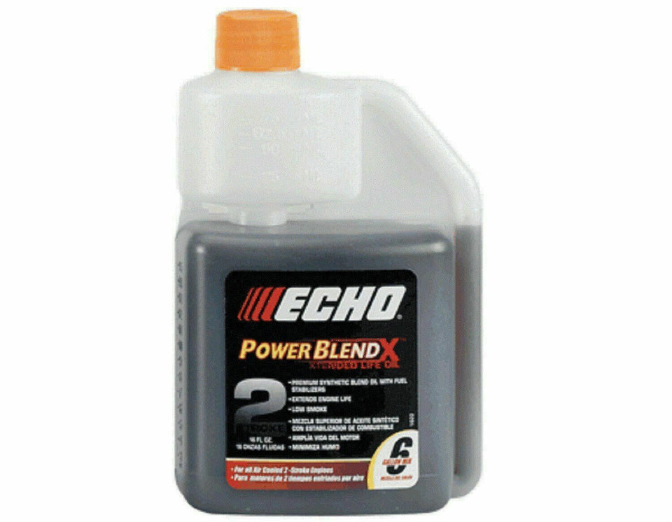 Echo 6450006 Power Blend 16 oz Xtended Life 2 Stroke Cycle Oil 6 Gallon Mix 50:1