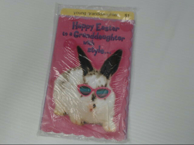 "American Greetings Young Granddaughter Easter Card ""With Style"" Retail Pack of 6"