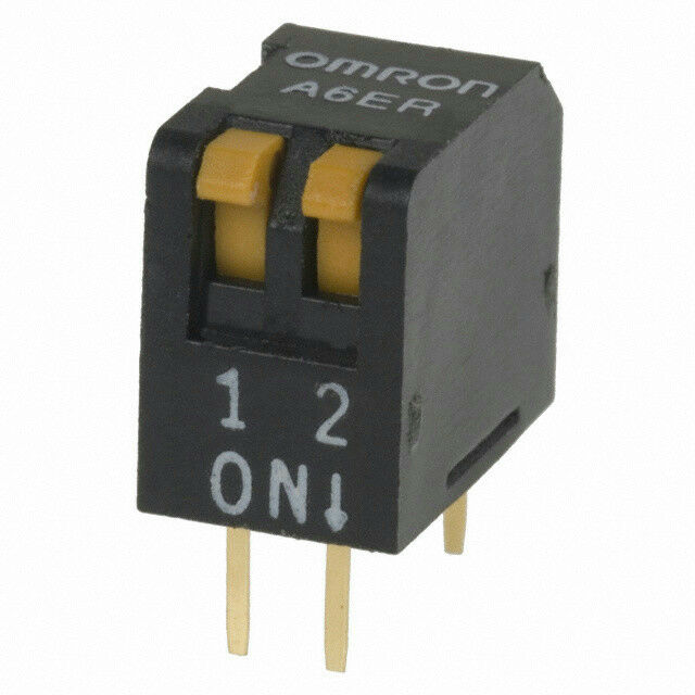 Omron A6ER2101 DIP Switch SPST 2 Position Piano Actuator 25mA 24VDC A6ER-2101