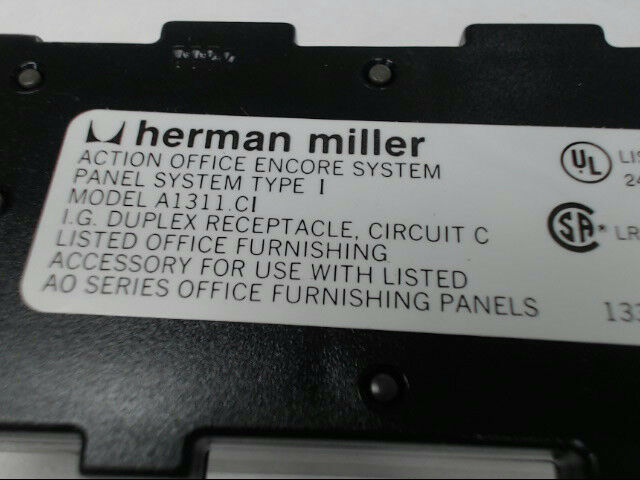 Herman Miller A1311.CI Brand New Panel Receptacle AO Medium Tone Pack of 6