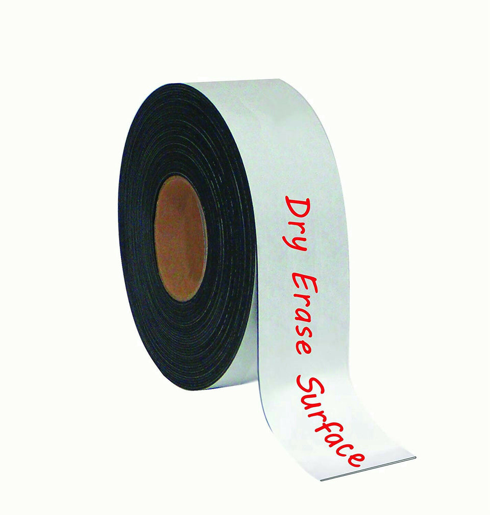 "MasterVision FM2118 Magnetic Dry Erase Surface 2"" x 50' White Tape Roll"