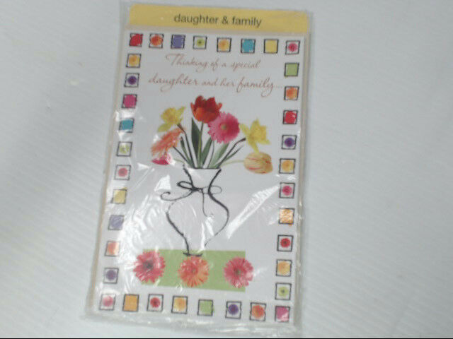 "American Greetings Daughter & Family Easter Card ""Thinking Of"" Retail Pack of 6"