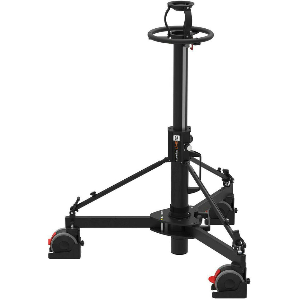 Miller Combo Live 30  Pedestal Tripod Payload Range 66 lbs *Cosmetic Scratches*