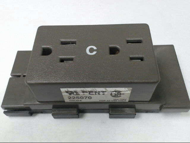 Herman Miller A1311.C Cubical Panel Duplex Receptacle AO Series Medium Tone