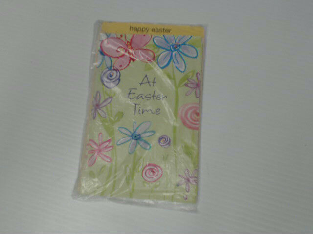 "American Greetings Happy Easter Card ""At Easter Time"" Flowers Retail Pack of 6"