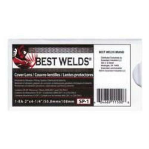 "Best Welds SP-1 Scratch/Static Resistant CR-39 Monomer Cover Lens 2"" x 4-1/2"""