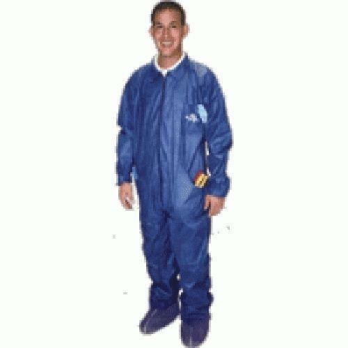 Bramec Shubee XL Dark Blue Coveralls w/ 5 Pockets and 2 Shoe Covers 17401