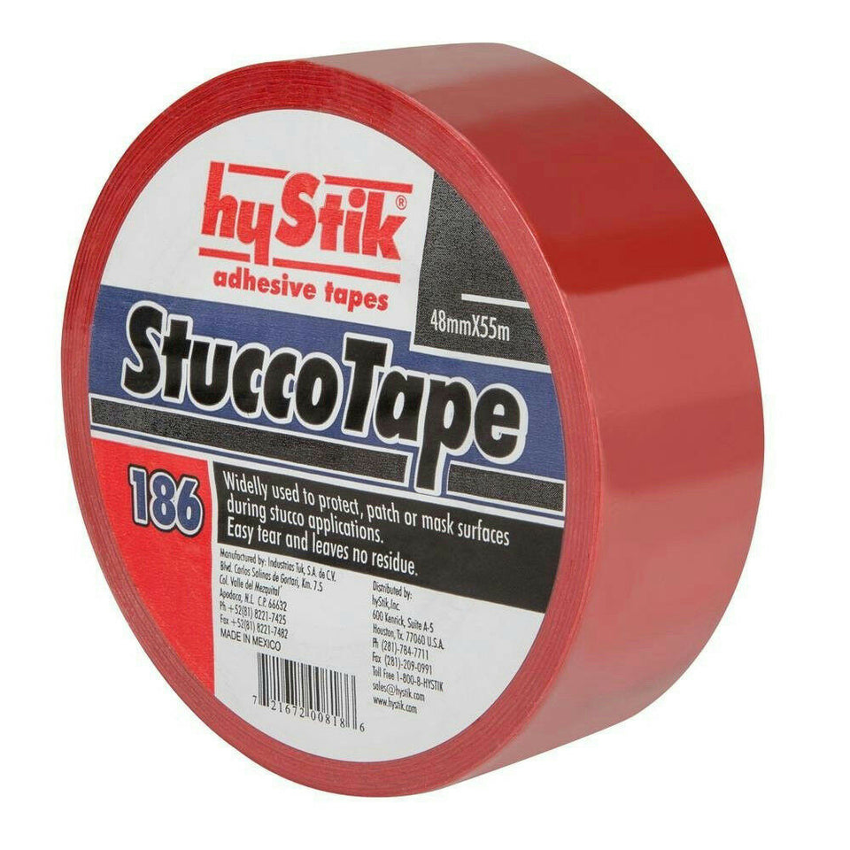"hyStik 2"" x 60yds Red Stucco Tape for Installation Masonry Cement & E.I.F.S. 186"