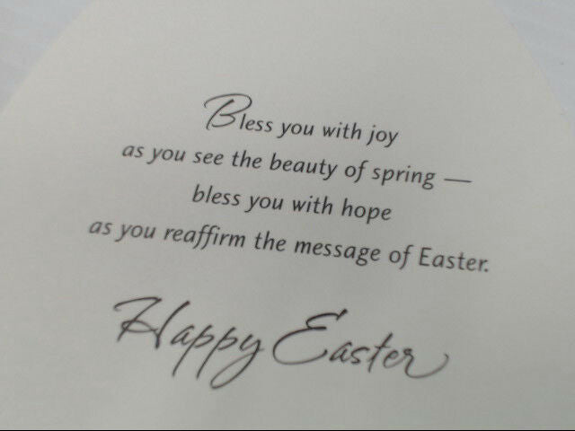 "American Greetings Religious Easter Card ""Easter Has a Message"" Retail Pack of 6"