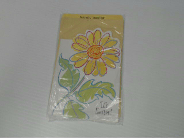 "American Greetings Happy Easter Card ""It's Easter"" Flower Retail Pack of 6"