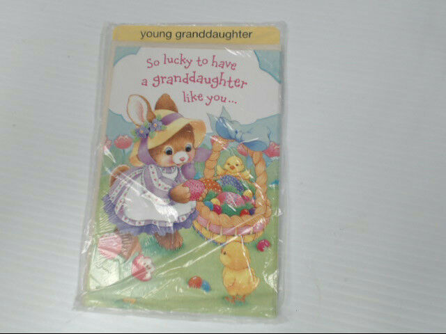 "American Greetings Young Granddaughter Easter Card ""So Lucky"" Retail Pack of 6"