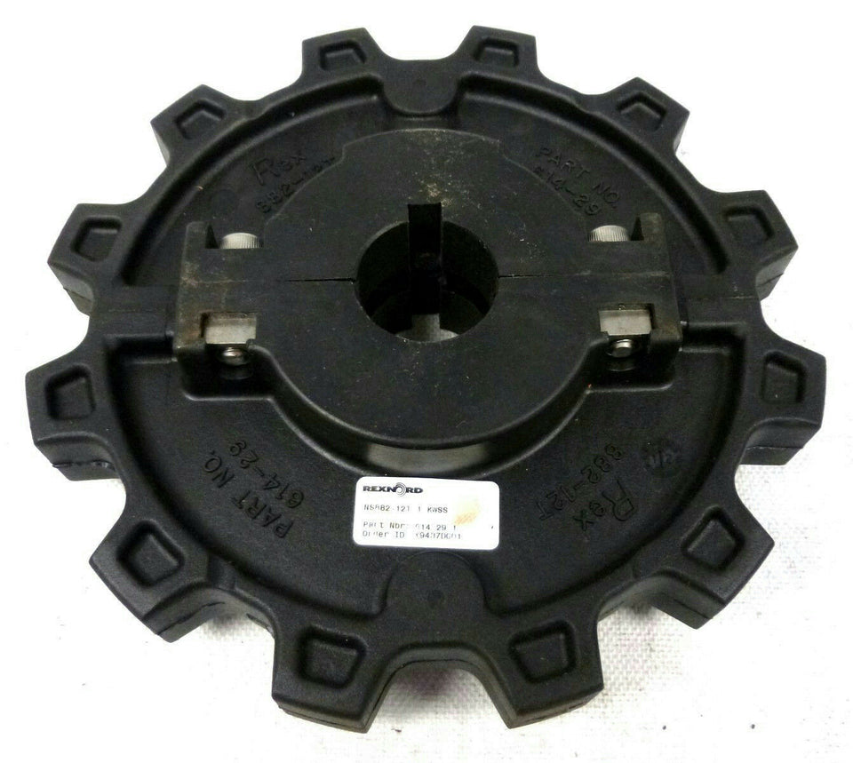 "Rexnord NS882-12T 1 KWSS 614-29-1 Split Hub Single Row 1"" Sprocket Free Shipping"
