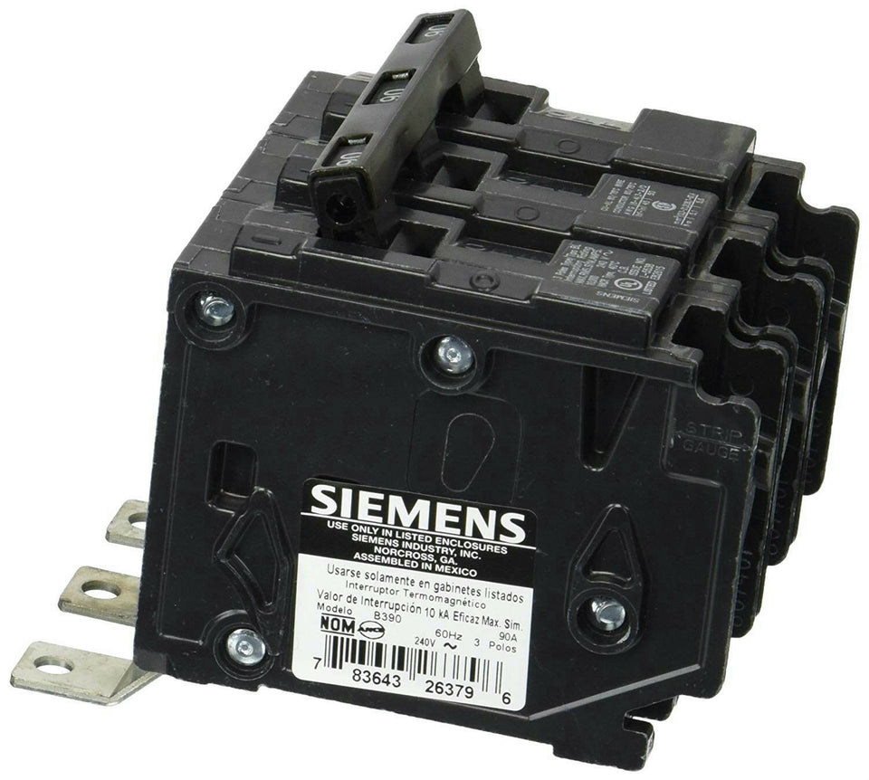 Siemens B390 Bolt-On Circuit Breaker 3 Pole 90A 240V Type BL *Free Shipping*