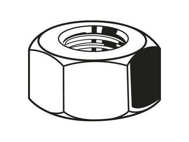 "Fabory U01300.037.0001 Hex Nut 3/8""-16 Grade 5 Zinc Pack of 100 3HEF1"