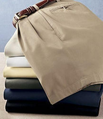 Jos A Bank Traveler's Collection Pleaded Wrinkle Resistant KHAKI Shorts 34 Reg