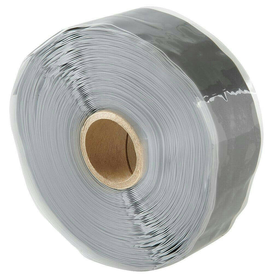 "Nashua 1"" x 38' Roll Stretch and Seal Gray Silicone Rubber Self-fusing Tape"