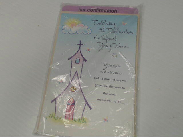 "American Greetings Her Confirmation Card ""Celebrating The"" Retail Pack of 6"