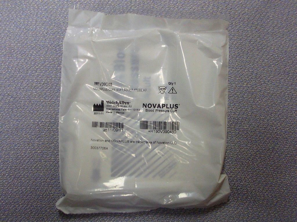 Welch Allyn NovaPlus Blood Pressure Cuff Soft Adult 1 Tube HP *New & Free Ship*