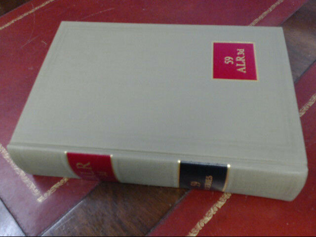 American Law Reports ALR 3d Series Law Book Volume 59 Cases & Annotations 1974