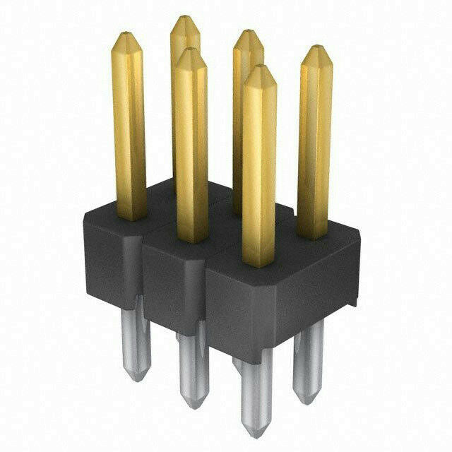 3M 961206-6404-AR Gold 2.54mm Male Pin Header Connector 6 Position *Pack of 5*
