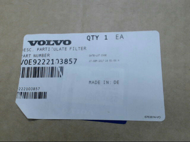Volvo 9222103857 Particulate Filter for L110E Loader *Brand New & Free Shipping*